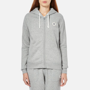 Converse Women's Full Zip Hoody - Vintage Grey Heather