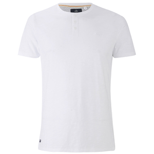 Threadbare Men's Oliver Grandad T-Shirt - White