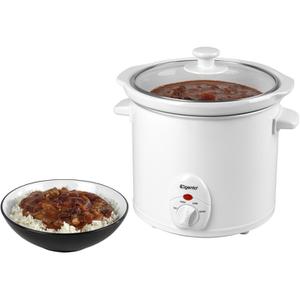 Elgento E16002 Slow Cooker - White - 3L