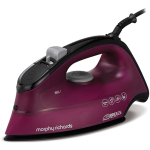 Morphy Richards 300263 Breeze Steam Iron with Ceramic Sole Plate - Red/Purple - 2200W