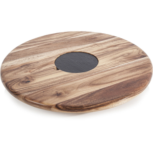 Natural Life NLAS001 Acacia Lazy Susan with Slate Plate - 35cm
