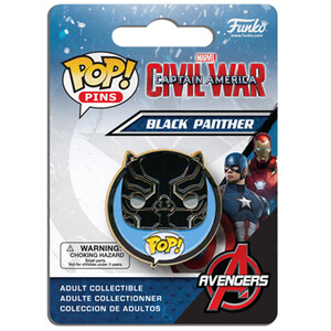 Capitán América: Civil War Black Panther Pop! Pin