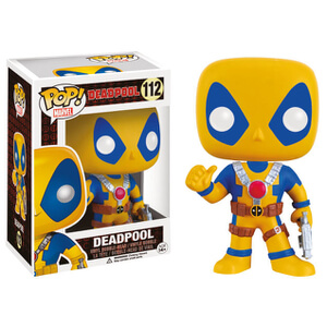Marvel Deadpool Yellow Costume Pop! Vinyl Bobble Head