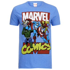Marvel Men's Attack T-Shirt - Heather Royal