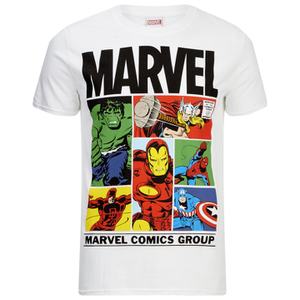 Marvel Men's Gridlock T-Shirt - White