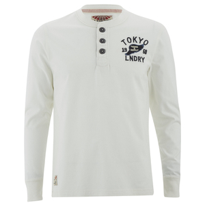 Tokyo Laundry Men's Arturo Button Long Sleeve Top - Ivory
