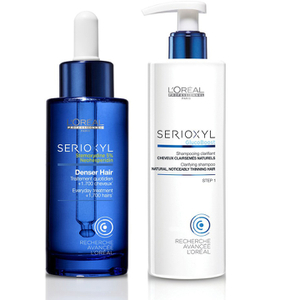 LOréal Professionnel Serioxyl Denser Hair Treatment and Shampoo for Natural Thinning Hair