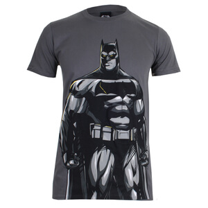 DC Comics Men's Batman v Superman Batman T-Shirt - Charcoal
