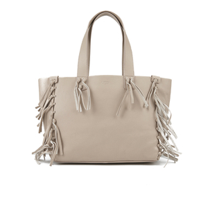 UGG Women's Lea Leather Fringed Tote Bag - Taupe