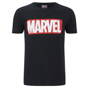 Marvel Comics Herren Core Logo T-Shirt - Schwarz