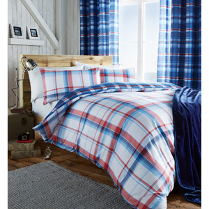 Catherine Lansfield St. Ives Check Bedding Set - Blue