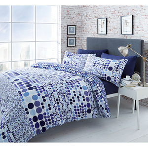 Catherine Lansfield Geo Spot Bedding Set - Blue