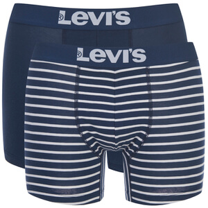 Levi's Men's 200SF 2-Pack Striped Boxers - Navy