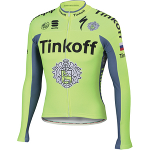 Tinkoff BodyFit Pro Thermal Long Sleeve Jersey 2016 - Yellow