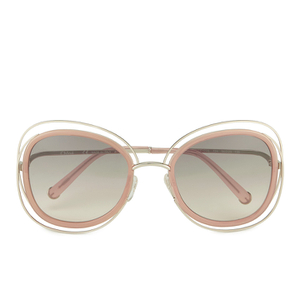 Chloe Women's Metal Edged Cat Eye Sunglasses - Gold/Transparent Peach