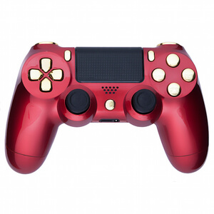PlayStation DualShock 4 Custom Controller - Crimson Red & Gold