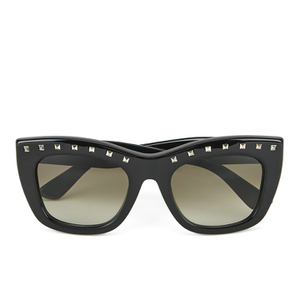 Valentino Women's Rockstud Square Frame Sunglasses - Black