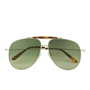 Valentino Women's Aviator Sunglasses - Light Gold