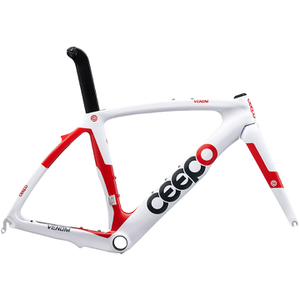 Ceepo Venom Time Trial Frameset - White/Red