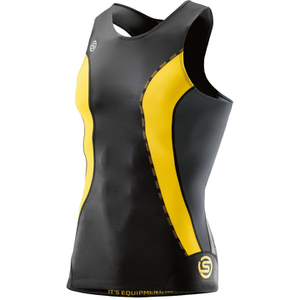 Skins DNAmic Men's Sleeveless Top - Black/Citron