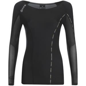 Skins DNAmic Women's Long Sleeve Top - Black/Limoncello