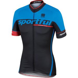 Sportful SC Team Short Sleeve Jersey - Black/Blue
