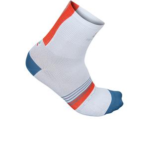 Sportful BodyFit Pro 9 Socks - White/Blue/Red