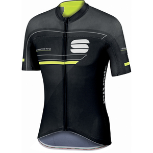 Sportful Gruppetto Pro Race Short Sleeve Jersey - Black/Grey/Yellow