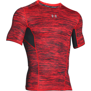 Under Armour Men's HeatGear CoolSwitch Compression Short Sleeve Shirt - Red