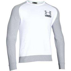 Under Armour Men's Tri-Blend Fleece Crew Sweatshirt - White