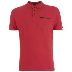 Smith & Jones Men's Mascaron Zip Pocket Polo Shirt - True Red
