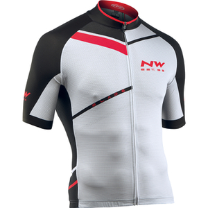 Northwave Blade Air Full Zip Short Sleeve Jersey - White/Black