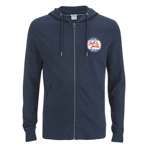 Jack & Jones Men's Originals Batch Sweat Zip Through Hoody - Navy Blazer