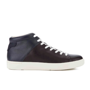 PS by Paul Smith Men's Akira Leather Hi-Top Trainers - Black/Galaxy Mono Lux