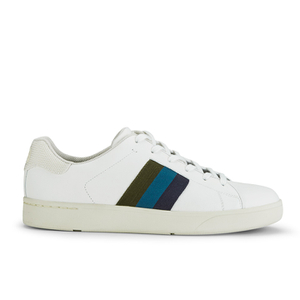 Paul Smith Shoes Men's Lawn Trainers - White Mono Lux
