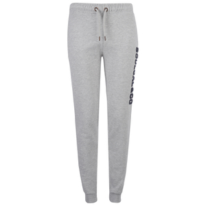 Soul Cal Men's Large Logo Cuffed Sweatpants - Grey Marl