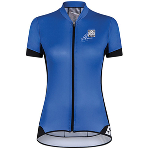Santini Gold Women's Aero Short Sleeve Jersey - Blue