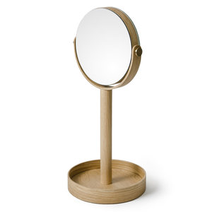 Wireworks Natural Oak Magnify Mirror