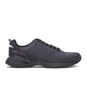 BOSS Green Men's Velocity Knitted Running Trainers - Black