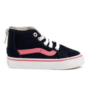 Vans Toddler's Sk8-Hi Zip Trainers - Navy/Pink