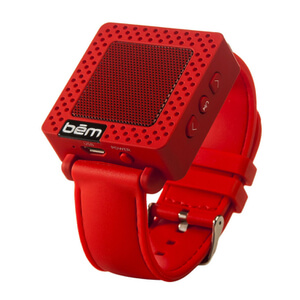 Bem Wristband Bluetooth Speaker - Red