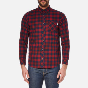 Carhartt Men's Long Sleeve Shawn Shirt - Shawn Check/Grape Rinsed