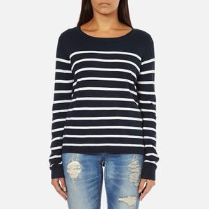 ONLY Women's Mila Stripe Long Sleeve Top - Night Sky