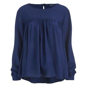 ONLY Women's Rush Denim Long Sleeve Top - Dark Blue Denim