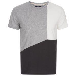 Threadbare Men's Haystings Cut & Sew T-Shirt - Black Mix