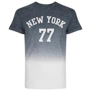 Threadbare Men's Dunbar Print Dip Dye T-Shirt - Grey