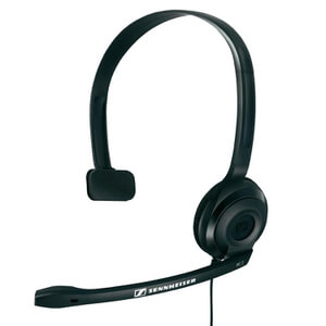 Sennheiser PC 2 CHAT Lightweight Telephony On-Ear Headset with Mic - Black