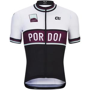 Alé Classic Pordoi Short Sleeve Jersey - Black/White/Purple