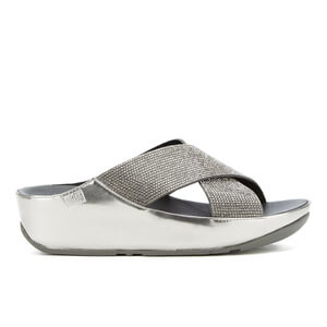 FitFlop Women's Crystall Slide Sandals - Pewter - UK 7