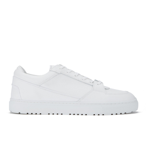 ETQ. Men's Low Top 3 Leather Trainers - White